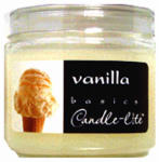 Candle Lite 2400570 Basics 3.5-oz. Vanilla Scented Candle Jar