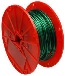Apex Tools Group 7000197 Green Vinyl Galvanzied Cable, 1x7, 1/16-In. x 250-Ft..