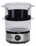Englewood Marketing Group ST-25F Food Steamer With Rice Bowl, Double Decker, BPA FREE, 5-Qt.