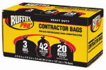 Berry Global 1190270 Contractor Bags, Black, 42-Gal., 20-Pk.