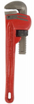 J S Products 106617 Heavy-Duty Steel Pipe Wrench, 10-In., 1.75-In. Jaw Capacity