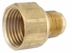 Anderson Metals 54806-0608 3/8-Inch Flare x 1/2-Inch Female Pipe Thread Brass Flare Connector