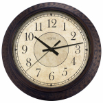 La Crosse Technology 404-2635 Wall Clock, Brown, Battery-Operated, 14-In.