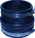 Fernco P1002-43 4 x 3-Inch Clay Pipe Reducing Flexible Coupling for Cast Iron/Plastic