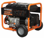 Generac Power Systems 5940 GP Series Portable Electric Generator With Wheel Kit, 6500/8000-Watt