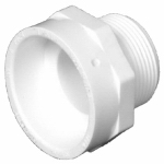 Charlotte Pipe & Foundry PVC 00109  0600HA 1-1/4 DWV MPT Adapter