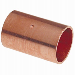 B&K W610148 Wrot Copper Coupling With Stop, 1-1/4 In.