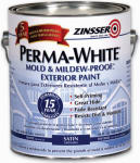 Zinsser & 3104 1-Qt. Perma White Satin Exterior Paint