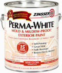 Zinsser & 3131 Gallon Semi-Gloss Exterior Paint, Perma White