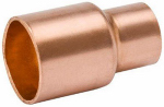 B&K W 61025 1/2 x 1/4-Inch Wrot Copper Coupling With Stop