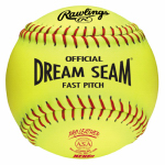 Rawlings Sport Goods C12RYLAH Dream Seam Fast-Pitch Softball, Yellow, 12-In.