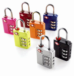 Travel Smart By Conair TS390TSR 3-Dial Combination Padlock