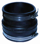 Fernco P1002-44 Clay Pipe Flexible Coupling, 4 x 4-In.