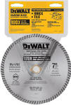 Dewalt Accessories DW4702 Dry-Cut Diamond Wheel, 7-In.