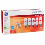 G E Lighting 42010 5-Pack 9-Watt Soft White CFL Bulbs
