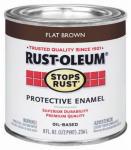 Rust-Oleum 239083 Qt. Flat Brown Stops Rust Enamel