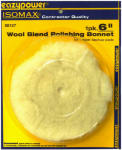 Eazypower 88127 Wool Blend Polishing Bonnet, 6-In.