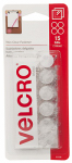 Velcro Usa Consumer Pdts 91328 Thin Clear Fasteners, 5/8-In. Coins, 15-Ct.
