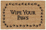"U S Cocoa Mat 31801 Doormat, ""Wipe Your Paws"", 18 x 30-In."