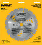Dewalt Accessories DW3161 6.5-Inch 18-TPI Carbide-Tipped Circular Saw Blade