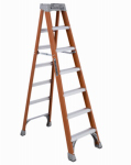 Louisville Ladder FS1507 Fiberglass Step Ladder, 300-Lbs., 7-Ft.