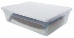 Sterilite 16558010 Storage Box, White Lid With See-Thru Base, 28-Qts., Must Purchase in Quantities of 10