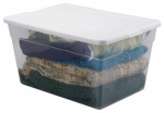 Sterilite 16598008 Storage Box, Clear, 56-Qt., Must Purchase in Quantities of 8
