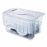 Sterilite 19148006 Storage Box, Hinged Lid, 48-Qt., Must Order in Quantities of 6