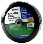 Arnold 490-323-0004 Hand Truck Wheel, Plastic with Rubber Tire, 10 x 2-3/4-In.