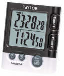 "Taylor Precision Products 5828 Digital Timer/Clock, Dual-Event, 1 ""AAA"""