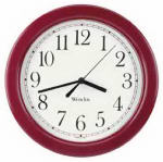 Nyl Holdings/Westclox 46983 Simplicity 8-Inch Round Wall Clock, Burgundy