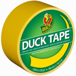 Shurtech Brands 1304966 All-Purpose Duct Tape, Yellow, 1.88-In. x 20-Yd.