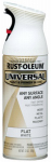 Rust-Oleum 247564 Universal Paint & Primer Spray, Flat White, 12-oz.