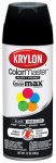 Krylon Diversified Brands K05160302 Colormaster Spray Paint, Indoor/Outdoor Use, Semi-Gloss Black, 12-oz.