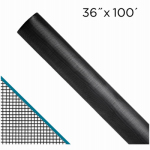 Saint Gobain Adfors FCS8480-M 36-In. x 100-Ft.  Clear Advantage Charcoal Fiberglass Invisible Window Screen