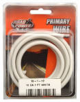 Coleman Cable 55671933 Primary Wire, White, 10-Ga., 7-Ft.