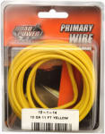 Coleman Cable 55671733 Primary Wire, Yellow, 12-Ga., 11-Ft.