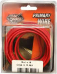 Coleman Cable 55671533 Primary Wire, Red, 12-Ga., 11-Ft.