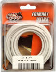 Coleman Cable 55669033 Primary Wire, White, 14-Ga., 17-Ft.