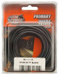 Coleman Cable 55666633 Primary Wire, Black, 16-Ga., 24-Ft.