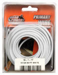 Coleman Cable 55667933 Primary Wire, White, 16-Ga., 24-Ft.