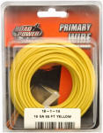 Coleman Cable 55843833 Primary Wire, Yellow, 18-Ga., 33-Ft.