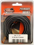 Coleman Cable 55667333 Primary Wire, Black, 18-Ga., 33-Ft.