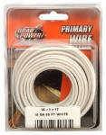 Coleman Cable 55667233 Primary Wire, White, 18-Ga., 33-Ft.