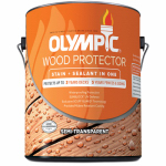 Olympic/Ppg Architectural Fin 58800A/01 Deck, Fence & Siding Stain & Sealant, Exterior, Semi-Transparent Oil, Neutral Tint Base, 1-Gal.