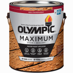 Olympic/Ppg Architectural Fin 79561A/01 Maximum Deck, Fence & Siding Stain & Sealant, Exterior, Semi-Transparent Oil, Cedar, 1-Gal.
