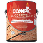 Olympic/Ppg Architectural Fin 53201A/01 Deck, Fence & Siding Stain & Sealant, Exterior, Latex, White Tint Base, 1-Gal.