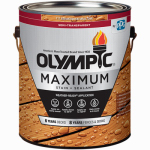Olympic/Ppg Architectural Fin 79562A/01 Maximum Deck, Fence & Siding Stain & Sealant, Exterior, Semi-Transparent Oil, Redwood, 1-Gal.