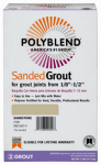 Custom Bldg Products PBG097-4 7-Lb. Natural Gray Sanded Polyblend Grout