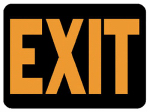 "Hy-Ko Prod 3003 ""Exit"" Sign, Hy-Glo Orange/ Black Plastic, 9 x 12-In."